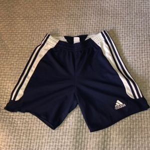 Men's Navy Blue Adidas Shorts Medium